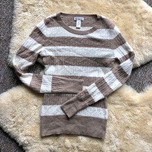 Aphorism Angora Rabbit Wool Knit Stripe Sweater